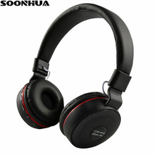 11b08b8e6d3f4d SOONHUA P47 Bluetooth Stereo Headphones LED Wireless Headset Foldable  Sports Headphone With Microphone Support FM Radio