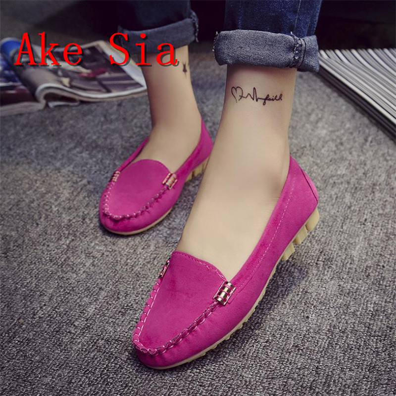 Ake Sia Women Flats 2017 Summer Style Casual Pointed Toe Slip-On Flat Shoes Soft Comfortable Shoes Woman Plus Size 35-40 women flats slip on casual shoes 2017 summer fashion new comfortable flock pointed toe flat shoes woman work loafers plus size