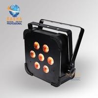 2X LOT Rasha Quad 7pcs 10W RGBA RGBW 4in1 DMX512 LED Flat Par Light Wireless LED