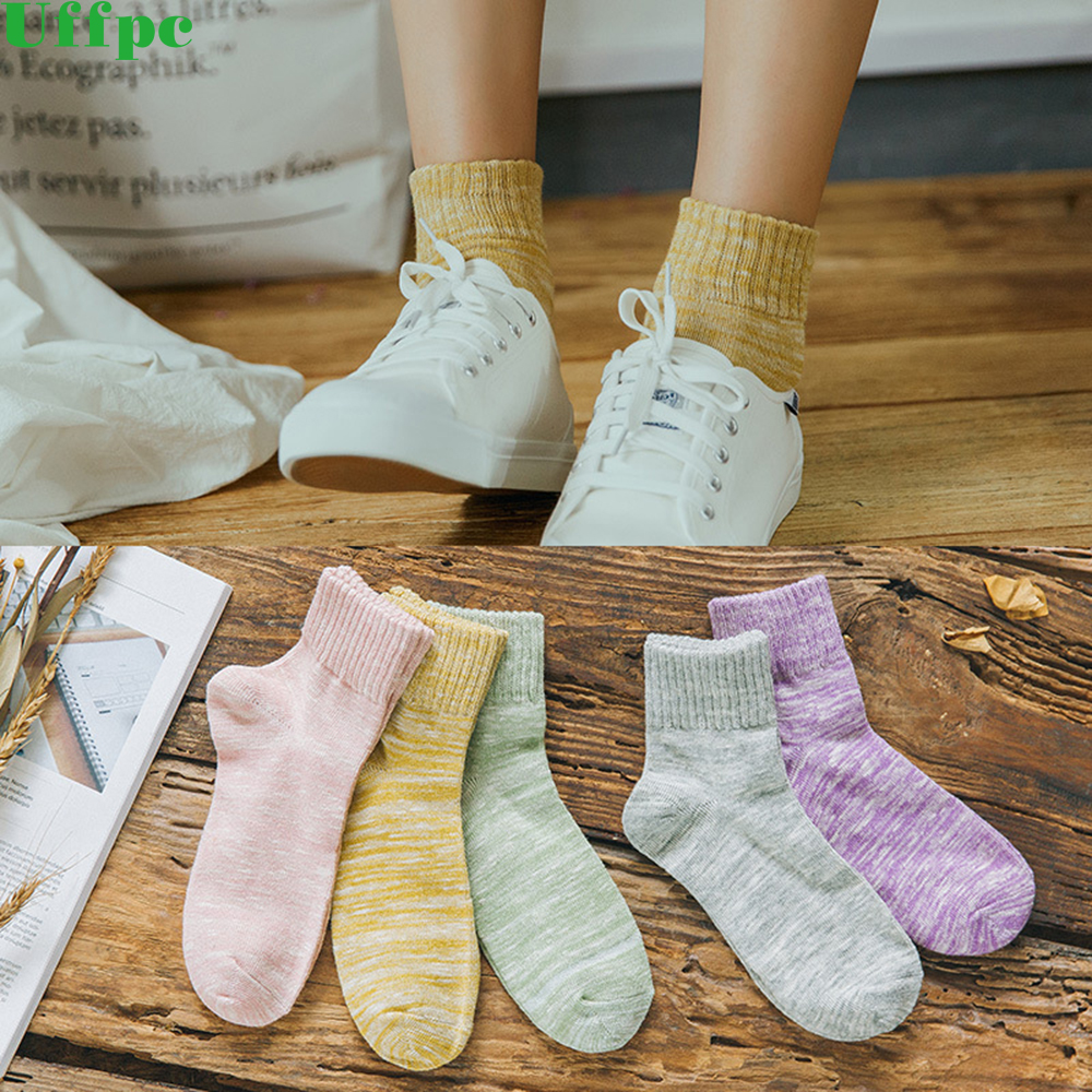 5 Pairs Natural Cotton Fur Women Socks Wool Upscale Soft Warm Winter Short Socks Coolmax Compression Breathable Ladies Socks
