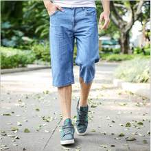 Plus Jeans Shorts Men Bermuda Size 28-46 Basic Style Casual Short Pants Bermuda Masculina Loose Fit Denim Shorts Cotton Summer(China)