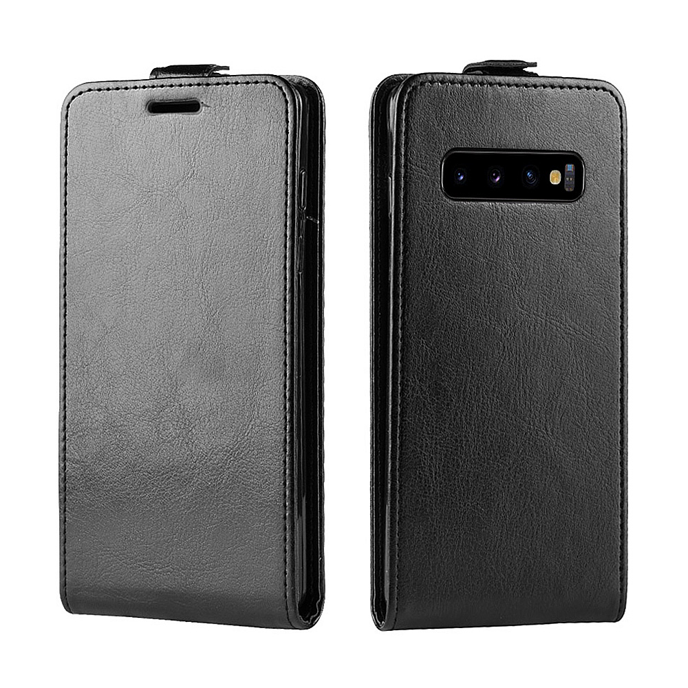 KSAM1160B_1_JONSNOW Flip Leather Case for Samsung S10 Plus Phone Cover for Galaxy S10 Flip Case for Samsung S10e with Card Slots
