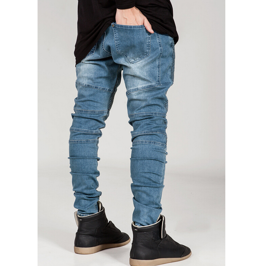 Aliexpress.com : Buy Men's skinny jeans men 2015 Pleated thin ...