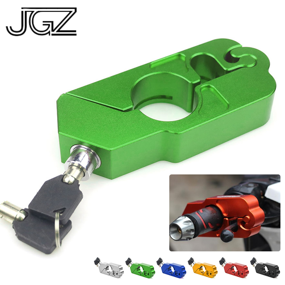 CNC Aluminum Motorcycle Handlebar Lock Handle Theft Protection Brake Lever Locks For Kawasaki Z900 Z900RS Z125 Z650 Accessories