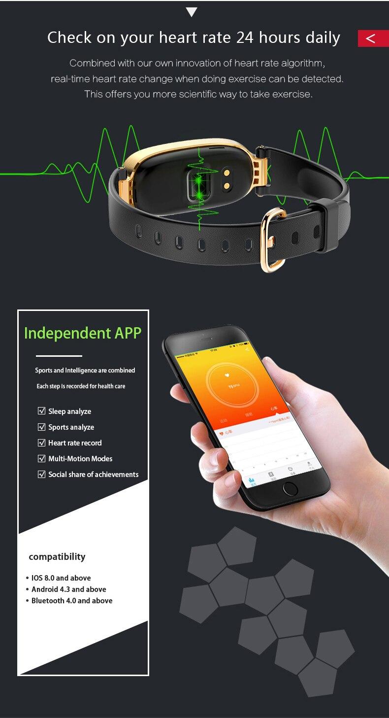 Volemer S3 Smart Bracelet Fitness Bracelet Bluetooth Heart Rate Monitor  Sleep monitoring for IOS Android Phone Fitness Bracelet