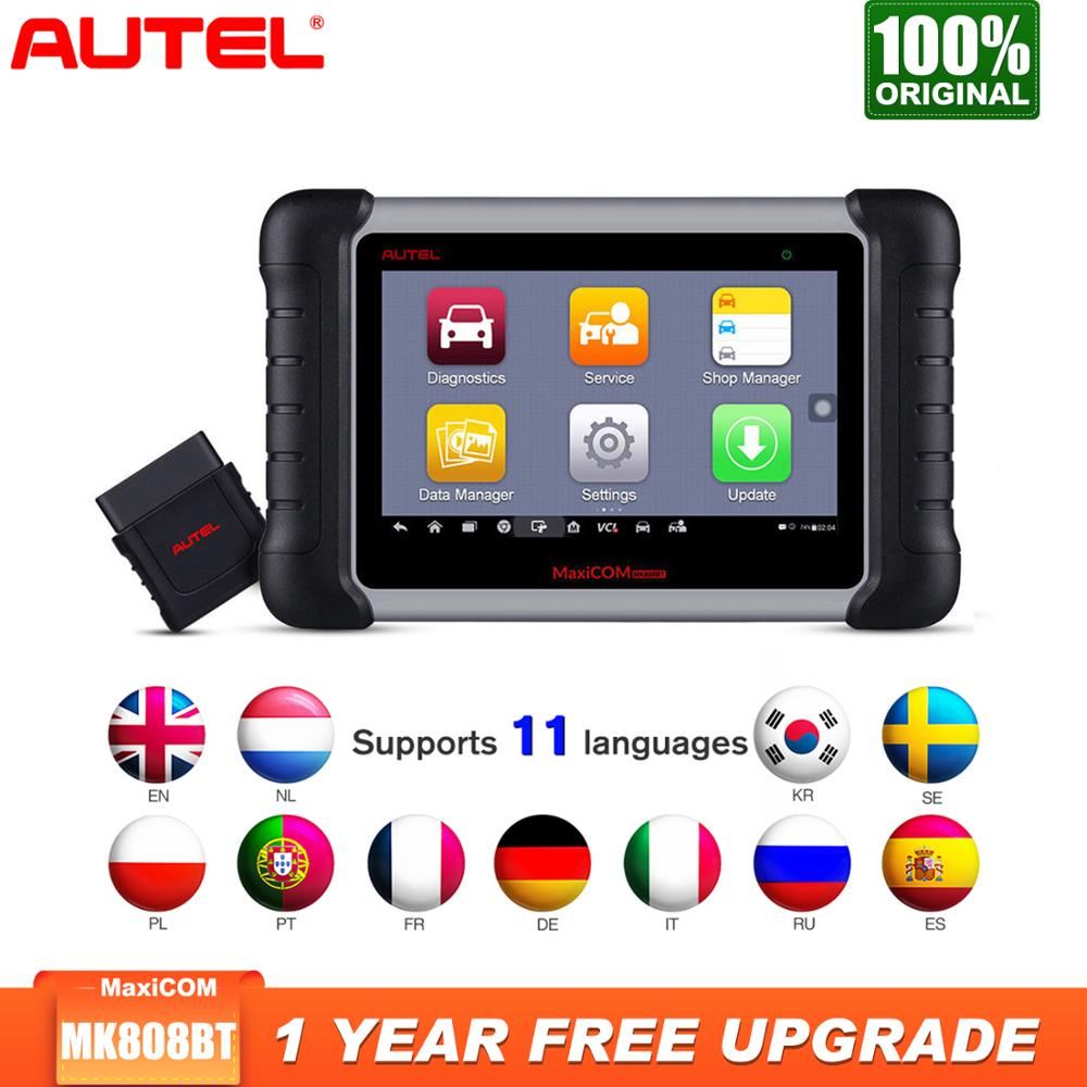 2019 Newest Autel MaxiCOM MK808BT OBD2 Scanner Car Diagnostic Tool Auto IMMO/EPB/SAS/BMS/TPMS/DPF Upgraded Version Of MK808