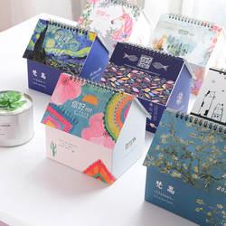 Новинка 2019 года творческий складной дом стол календари бумага Multi-function коробка для хранения расписание планировщик тетрадь повестки дня