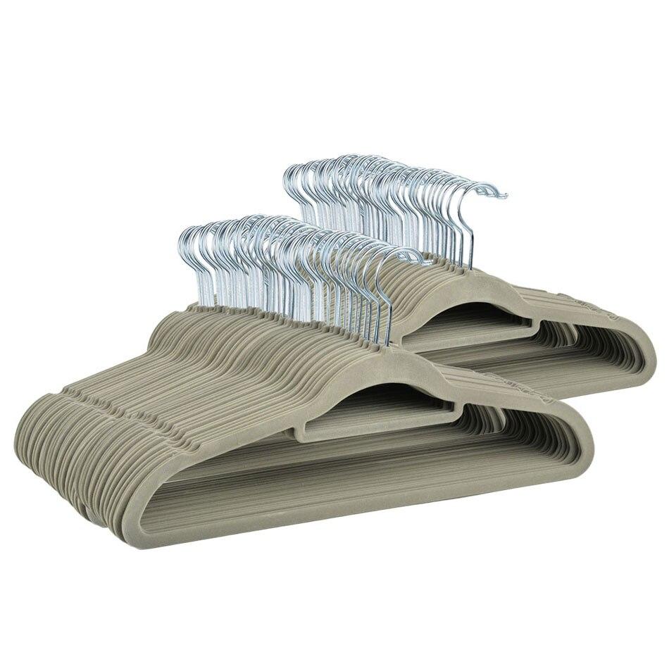 Homdox 50 шт. комплект Нескользящие стекались вешалка пальто одежда Мотобрюки висит Вешалки с 360 градусов поворотный крюк n30a
