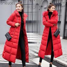 winter coat women large fur hooded warm plus size 3XL jacket parka free shipping navy bread cotton down long