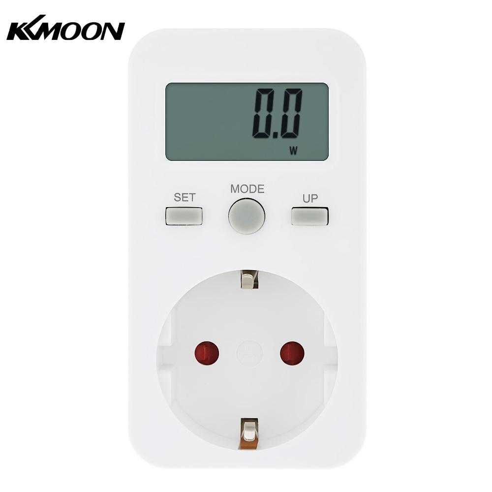 Plug In Power Meter : Plug in digital wattmeter lcd energy monitor power meter