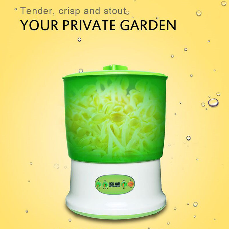 Intelligence Bean Sprouts Machine Upgrade Large Capacity Thermostat Green Seeds Grow Automatic Bean Sprout Machine F-089 US Plug bean sprout machine germination intelligence home double layer nursery pots automatic bean sprouts machine kitchen electrical