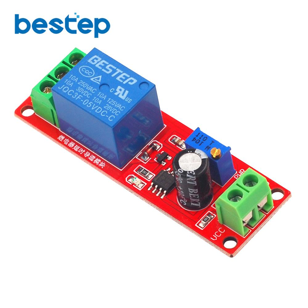 Hot Sale 1pcs Dc 5v Time Delay Relay Shield Module Ne555 Timer 555 Circuit Switch Adjustable 0 To 10 Second