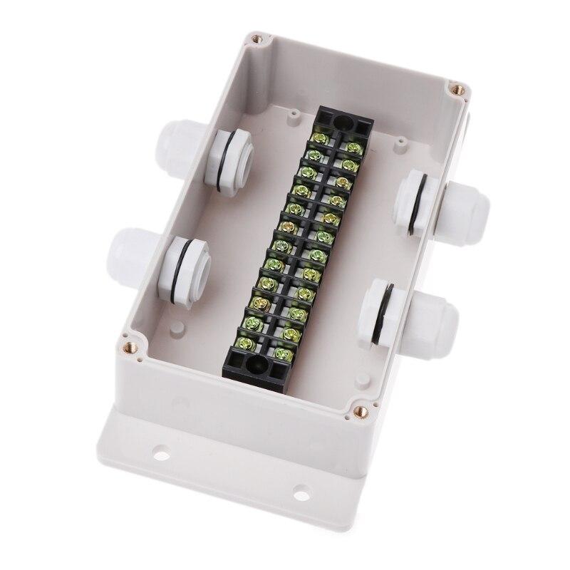 Boîtier de boîtier électrique de boîte de Distribution intérieure extérieure de connexion de boîtes de jonction imperméables d'abs avec le connecteur de glandes de câble