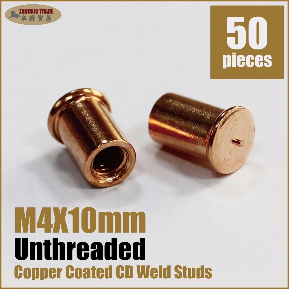 Медь покрытие Сталь CD Разряда Конденсатора выкрутите studwelding метрики сварки стержня m4x10mm внутренней резьбой крепежные винты