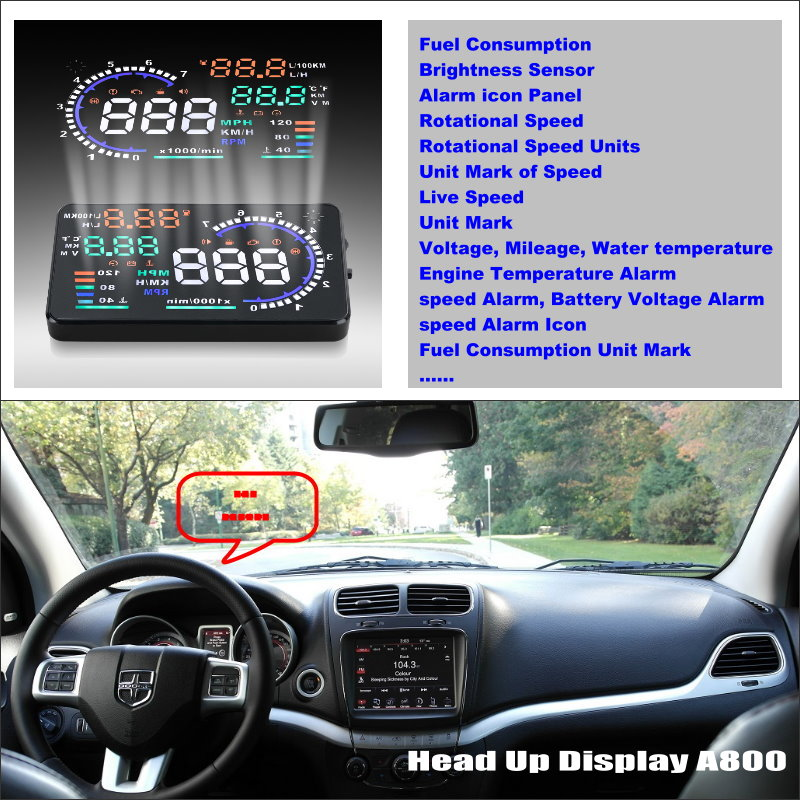 ФОТО For  Dodge Journey / JC / JCUV 2008~2015 - Vehicle HUD Head Up Display  - Safe Driving Screen Projector Refkecting Windshield
