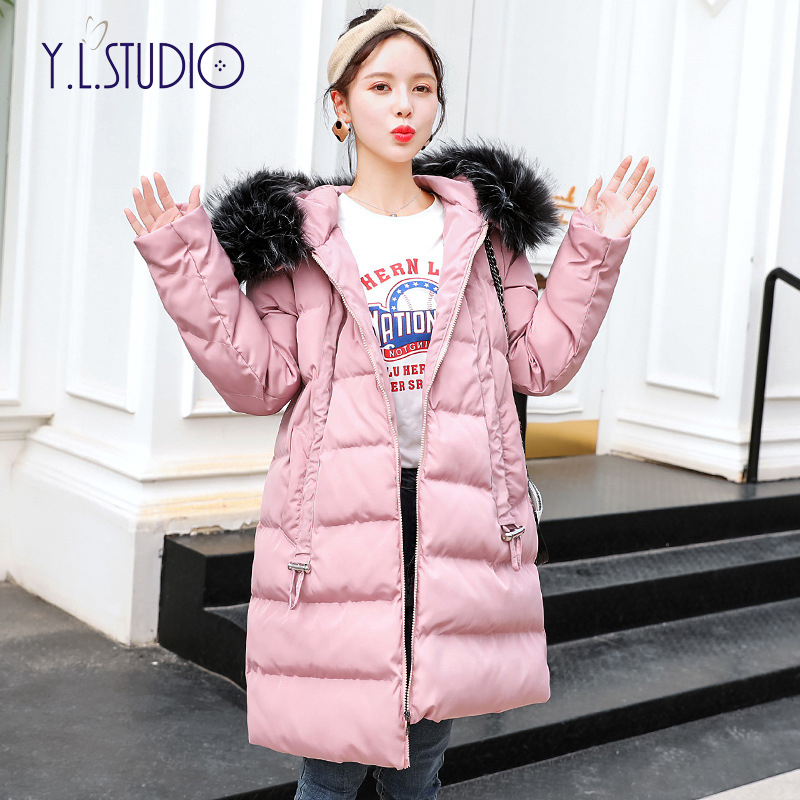 winter pregnant clothes jacket plus size coat brand winter down parka women Fashion Hooded maternity outfit dip hem dust coat mixed print dip hem top