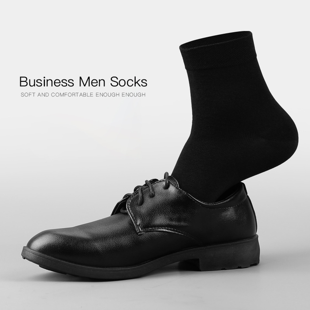 Men's Breathable Business Cotton Socks 10 Pairs / Lot