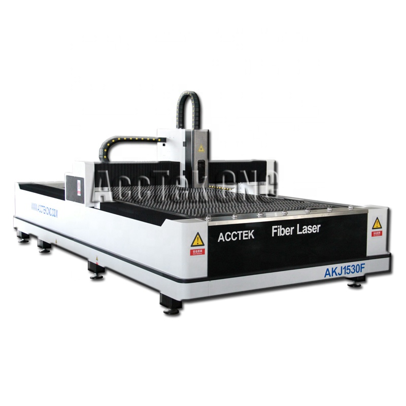 Au3tech laser cutting head aluminum steel iron brass fiber laser cutting machine price AKJ1530F