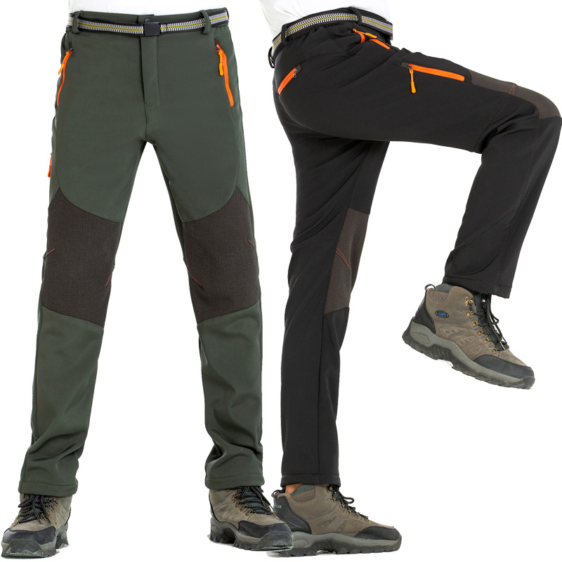 NUONEKO Men 39 s Winter Hiking Pants Waterproof Outdoor Sports Trousers Water Repellent Thermal Fleece Softshell Skiing Pants PM17 in Hiking Pants from Sports amp Entertainment