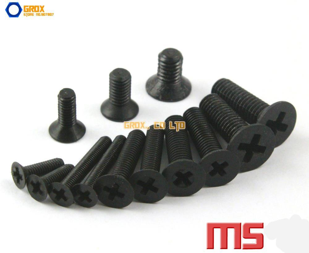 M5 Black Nylon Phillips Countersunk Head Machine Screw Insulation Screw m2 5 nylon phillips pan head machine screw insulation screw