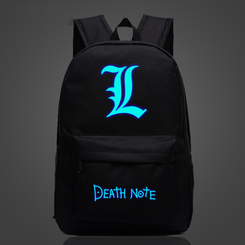 Anime Death Note Luminous Backpack Teens Kids Boys Girls Anime Death Note School Bag Women Men Travel Backpack Laptop Backpack death note anime character figures 8 piece set