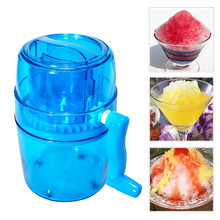 1.1L Portable Hand Crank Manual Stainless Steel Ice Crusher Shaver Kids Shredding Snow Cone Maker Machine Kitchen Tools Gadgets