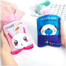 2017 Hot New Winter Mini Hot Water Bottle Plush Warm Water Bottle Filled with Water Dysmenorrhea Hand Warm Po Students Children