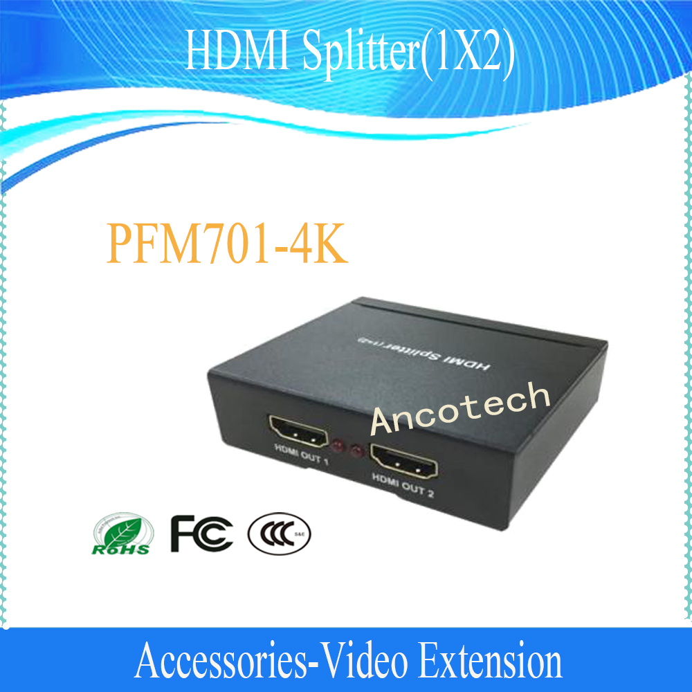 Free Shipping DAHUA Video Extension HDMI Splitter(1X2) Witout Logo PFM701-4K aixxco 4k 1x2 hdmi 2 0 splitter 1080p 1