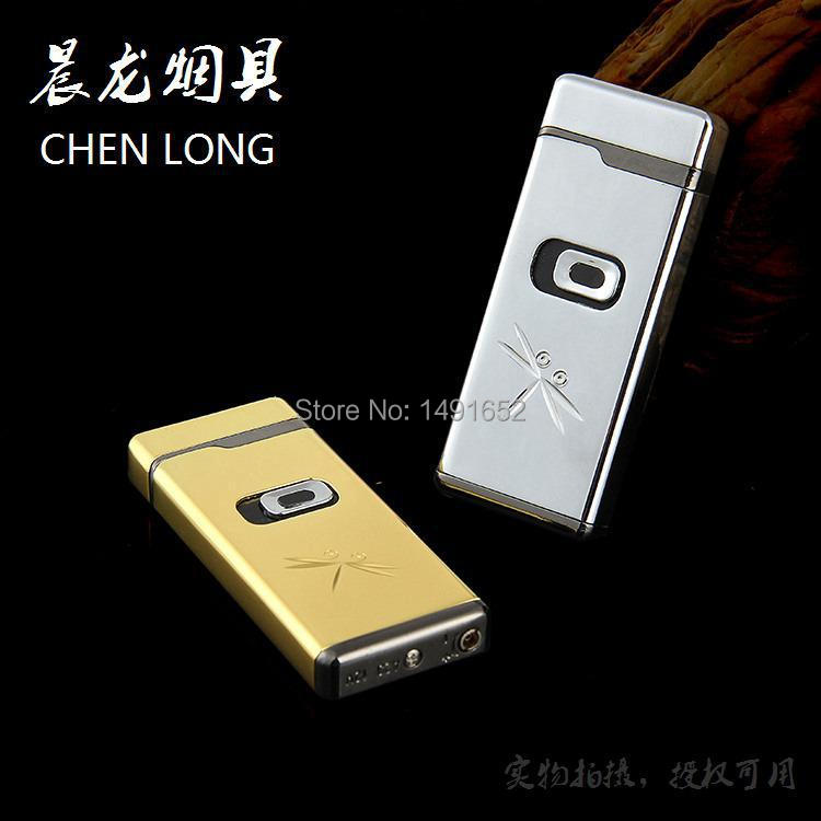 Novelty Gas electronic sense Metal Lighter Funny Side push flowers Cigarette Lighter Valentine s Day Gift
