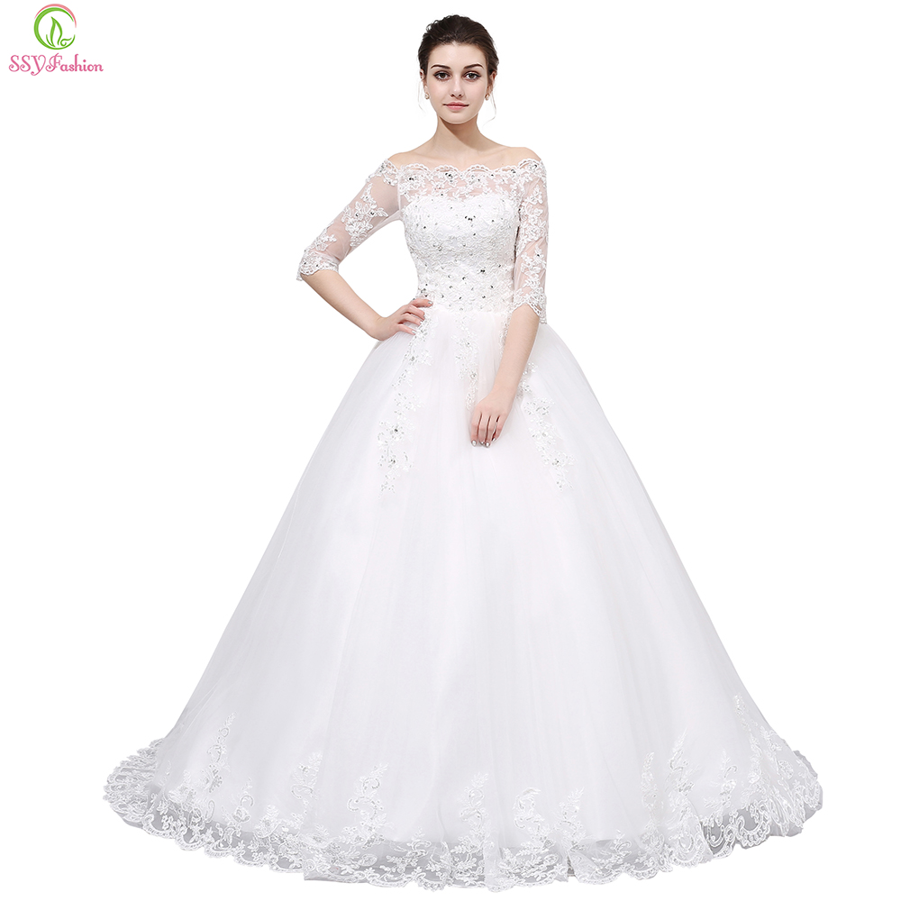 Ssyfashion Long Sleeve Wedding Dresses The Bride Elegant: Vestido De Noiva Luxury Wedding Dresses SSYFashion The