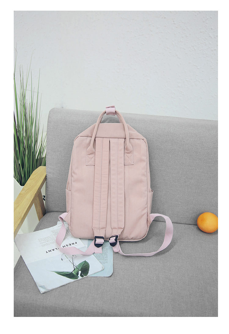 HTB1ACD5f.OWBKNjSZKzq6xfWFXa9 - Women Hot Canvas Backpacks Candy Color Waterproof  School Bags for Teenagers Girls Laptop Backpacks Patchwork Backpack New