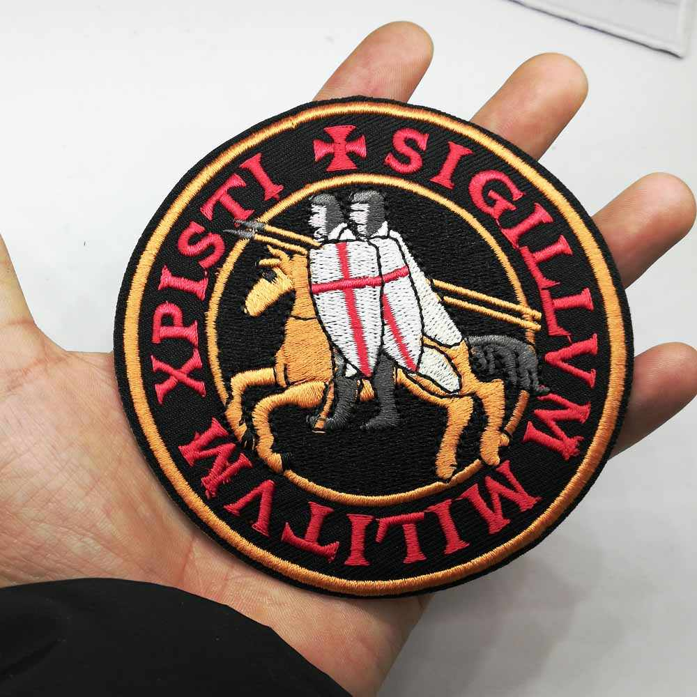 Letters Assassin Knights Templar Warrior Iron On Patch Embroidered Clothes  Patch For Clothing Clothes Stickers