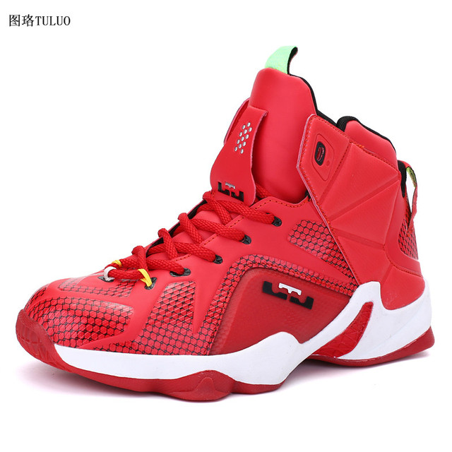 154af741d4ba 2018 High Quality Boy Shoes Brand Basketball Shoe Children Sneakers Black Kids  Basketball Boots Leather Kid Shoes Sport Trianers