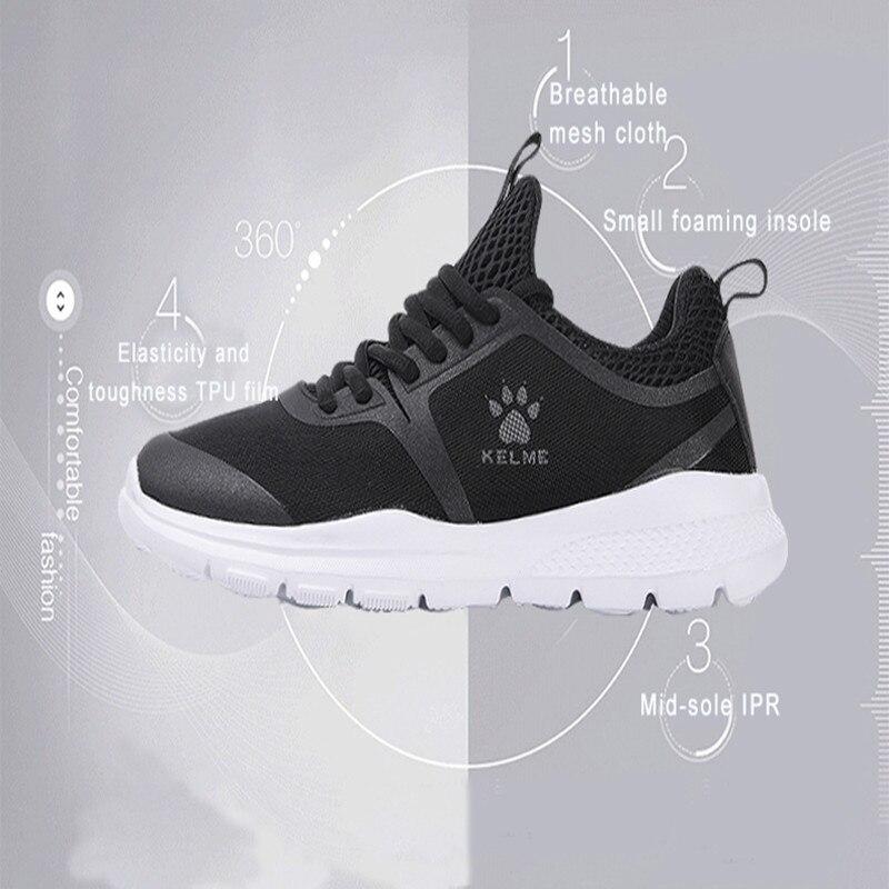KELME Men Running Shoes Flynit Mens Womens Sneakers Super Light Sports Shoes Breathable Footwear Jogging Walking Shoes