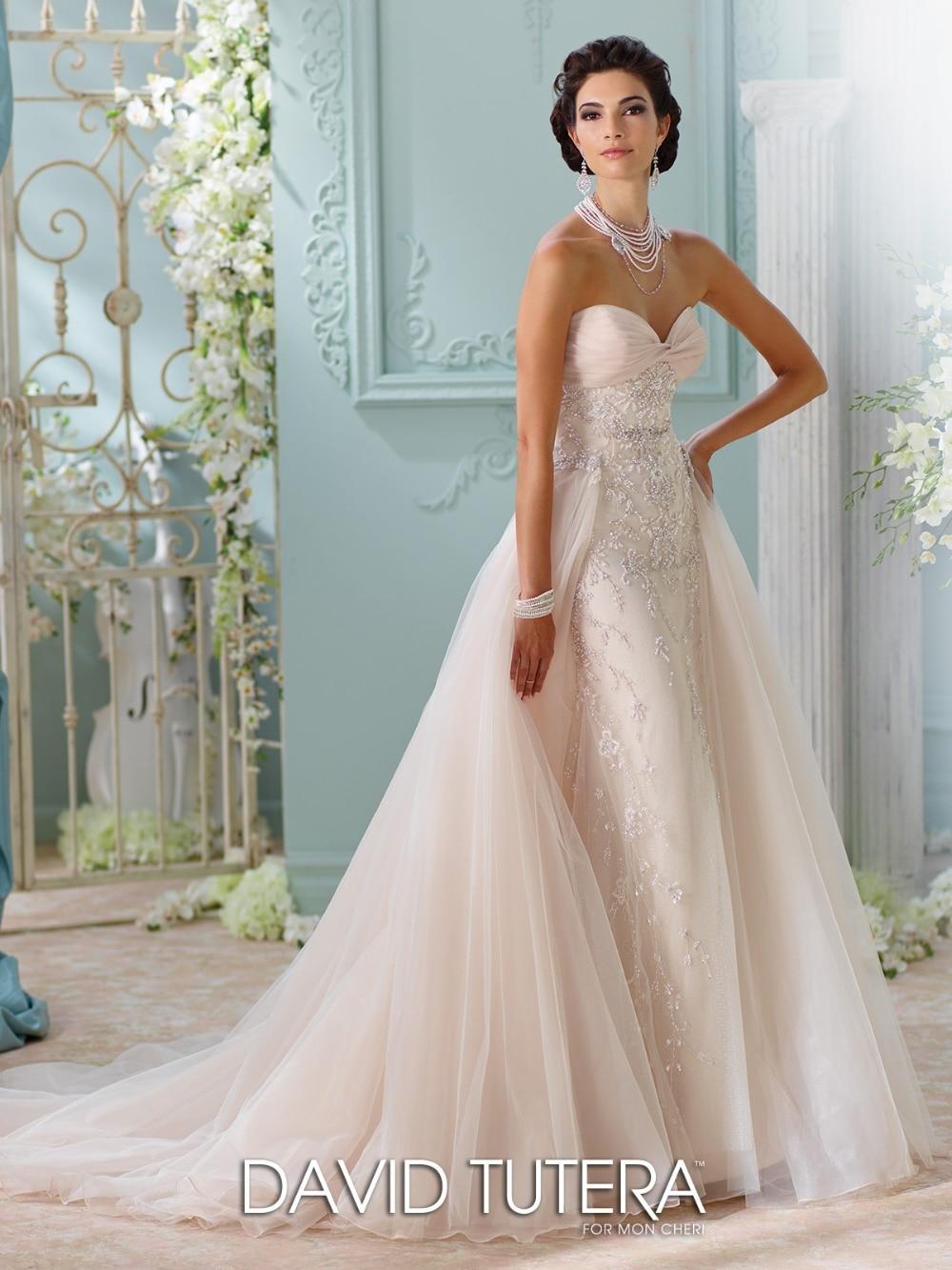 Fancy Wedding Dress With Removable Train Elaboration - All Wedding ...