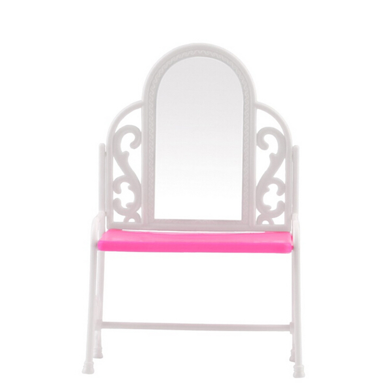 1 Set Fancy Classical Dresser Table Chair Kids Girls Play House Bedroom Toy Girls Accessories For Doll