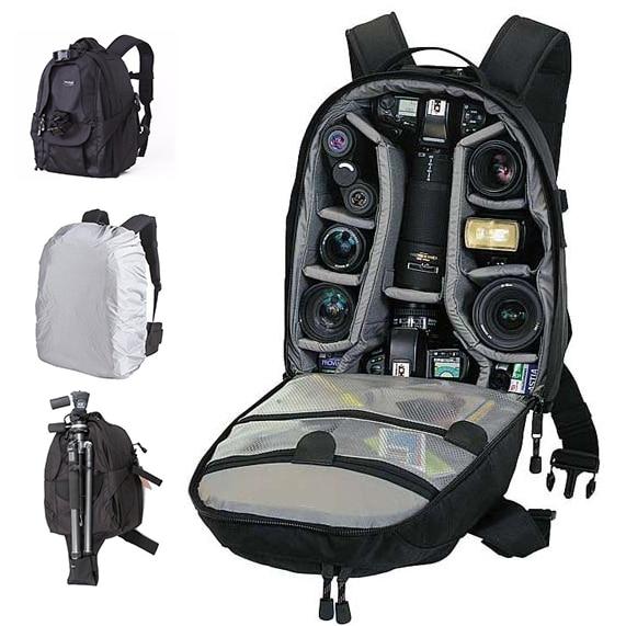 TREKGEAR Mini Trekker AW Foto DSLR Camera Bag Digital SLR Mochila de viagem Mochila Com All Weather Cover Para Nikon Canon