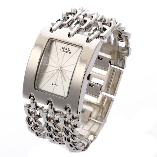 2017 G&D Top Brand Luxury Women Wristwatches Quartz Watch Ladies Bracelet Watch