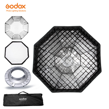 Soft-Box Bowens-Mount Octagon-Honeycomb-Grid 120cm Studio Flash Godox with for 47-