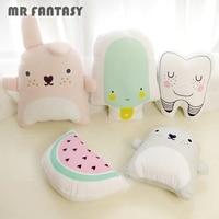 Baby Catoon Pillow Kids Cute Cushion Cotton Baby Room Decor Child Stuffed Soft Newborn Bed Doll