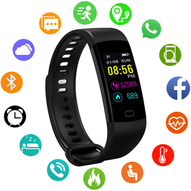 66f9140aca42 JBRL pulsera deporte hombres relojes inteligentes IP67 impermeable reloj de  para moda hombre Smartwatch Hodinky horas Relog