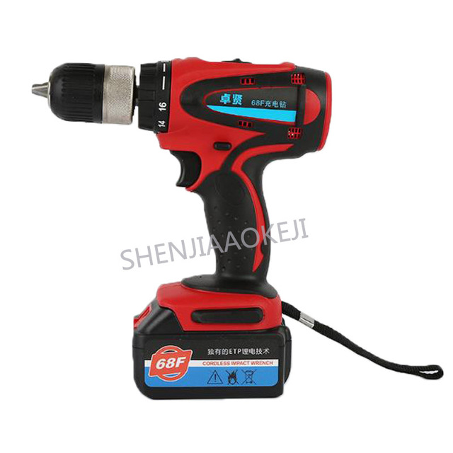 68F13A high power hand drill Lithium battery rechargeable hand drill Multifunctional drilling torque power tools