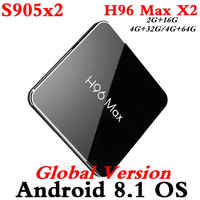 H96 MAX X2 Amlogic S905X2 Smart TV BOX Android 8.1 4GB 64GB 4K Media Player Youtube 2.4G&5G Wifi Set Top Box H96MAX PK T9 TVBOX