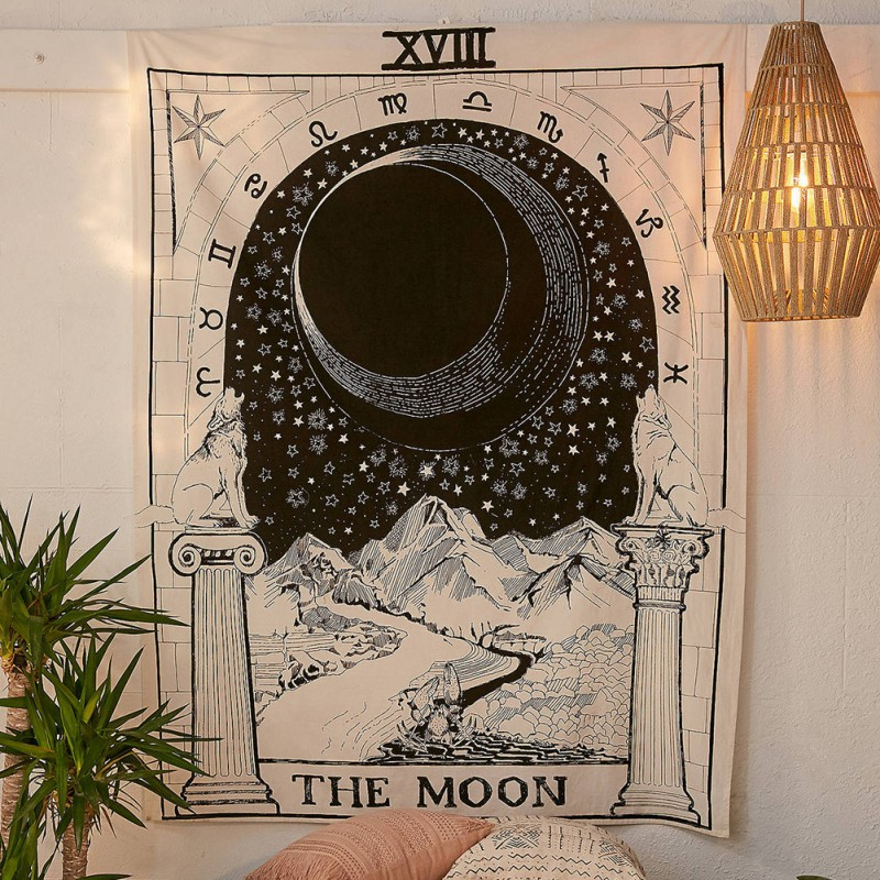 Soft Bagua Map Print Tapestry Polyester Fabric Tapestry Wall Hanging Picnic Mat Blanket Bedspread Beach Towels