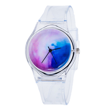 Shellhard Fashion Women Transparent Clear Band Plastic Gel Watch 13 Styles Jelly SIlicone Analog Sports Wrist Watch Female Clock
