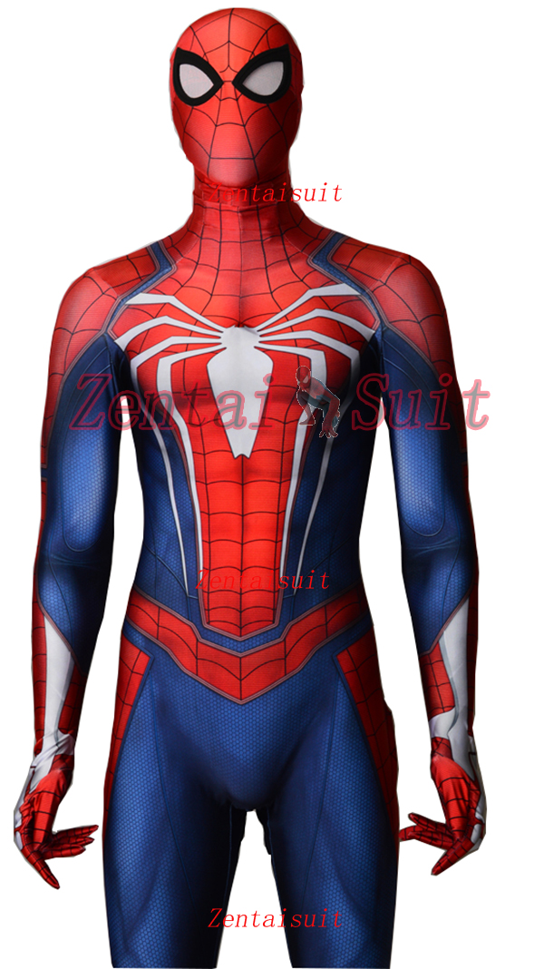 2018 Newest NEW PS4 INSOMNIAC SPIDERMAN SUIT 3D Print Spandex Games Spidey Cosplay Spiderman Costume Halloween
