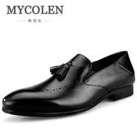 MYCOLEN Hot Sale Luxury Brand Men Casual High Quality Loafers Tassel Wedding Minimalist Design Dress Loafers Zapatos Hombre