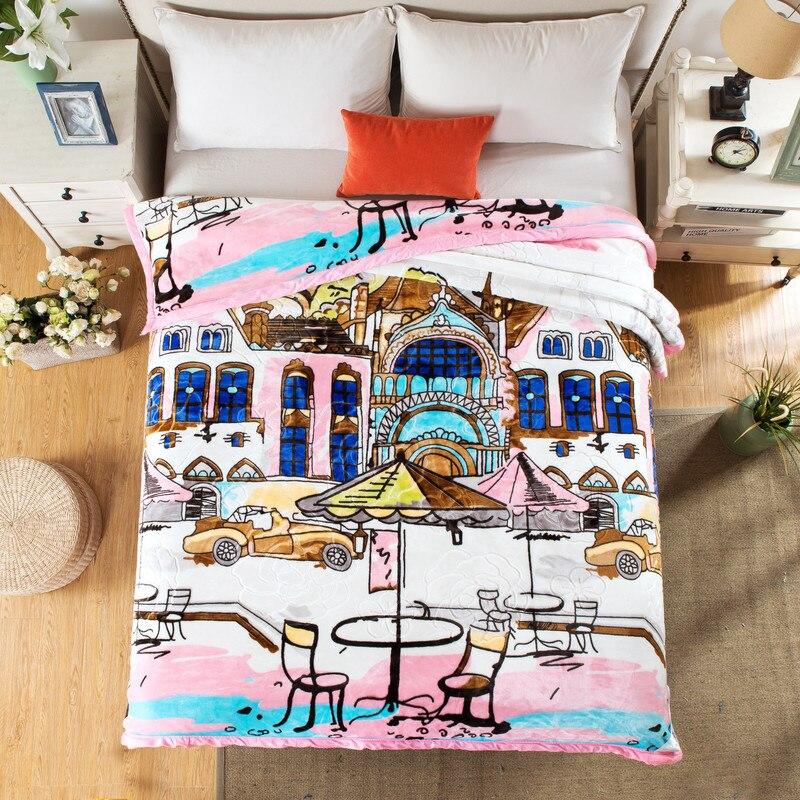 Рашелевое одеяло зима теплый плед домашнее постельное белье 195*225 см 3000 г Лебедь - 2