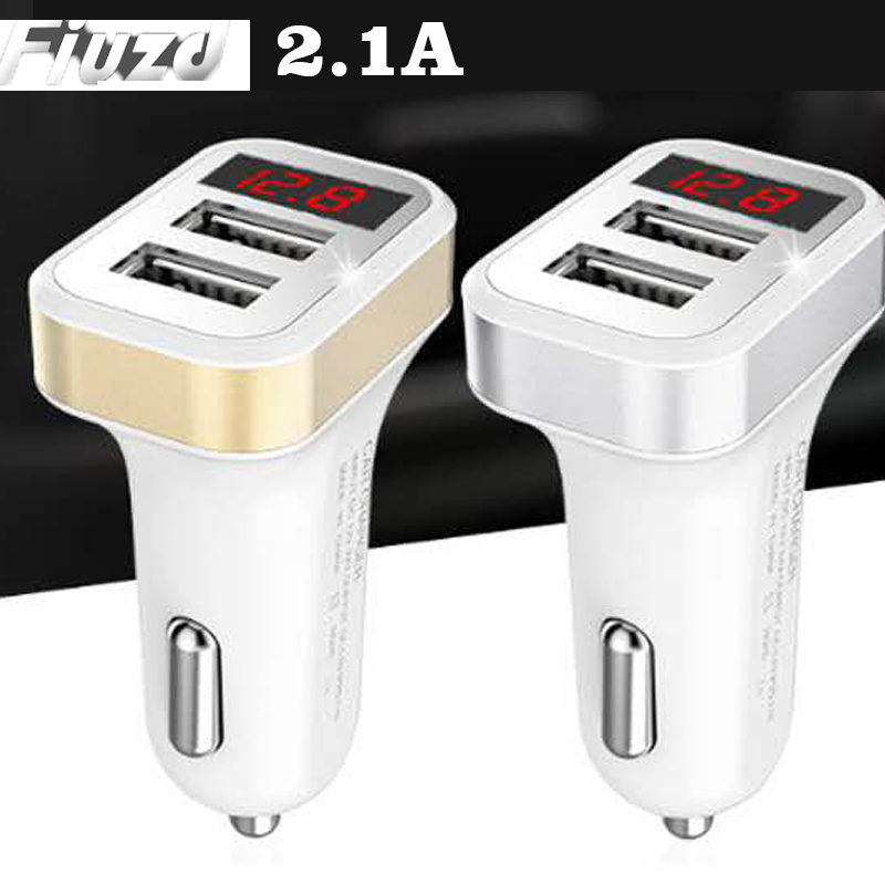 Fiuzd Display car charger For Redmi k20 pro note7 8 Dual USB Charger for Xiaomi mi 9 9t phone oneplus 7