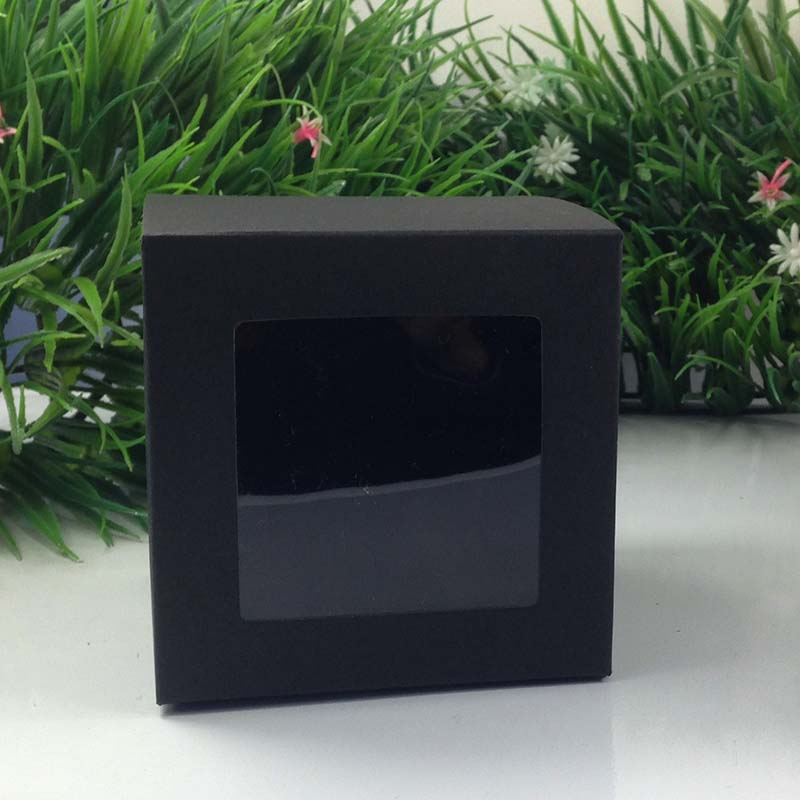 Whole 10 10cm Black Window Box Ng Custom Gift Bo Candy Cake Soap Cookie Cupcake Display Packaging In Jewelry From